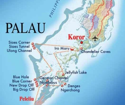 Palau map overview