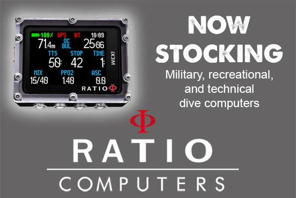 We stock Ratio Dive Computers